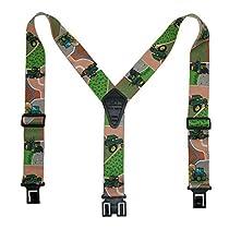 Perry Suspenders Mens Elastic Hook End Tractor Suspenders, Regular, Green