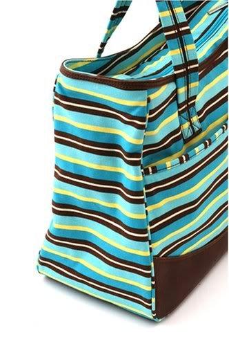 Gorgeous Zippered Top Kalencom Weekender Tote Diaper Bag With With Mesh Storage Pockets - Blue Nourrisson, Bébé, Enfant, Petit, Tout-Petits