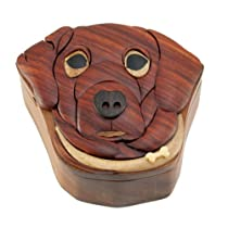 Dog - Secret Handcrafted Wooden Puzzle Box