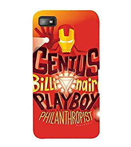 philosophical quote 3D Hard Polycarbonate Designer Back Case Cover for Blackberry Z10