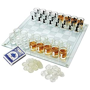 Maxam 3-in-1 Shot Glass Chess Set - SPCHESS2
