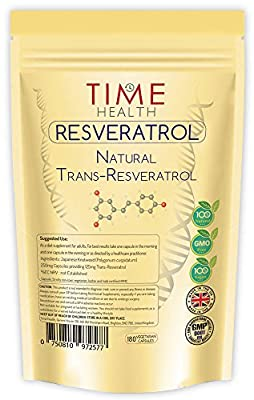 Trans Resveratrol - 180 Capsules - 3 Month Supply - Split Dosage for maximum benefits from Trans Resveratrol - UK Manufactured to GMP code of practice and ISO 9001 quality assurance