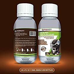 Descaling Solution for All Brands of Coffee and Espresso Machines By Housewares Solutions - 4 Fluid Ounce Bottle (2-Pack) made by Housewares Solutions
