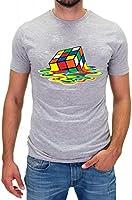 DSguided Melting Rubik Sheldon Zauberwürfel Herren T-Shirt theory tbbt cooper big bang dvd