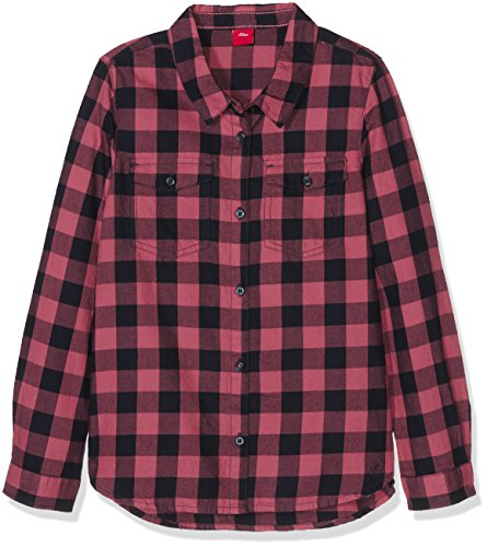 s.Oliver Bluse Langarm, Camicia Bambina, Rosa (Light Berry Check 43N0), 14 Anni
