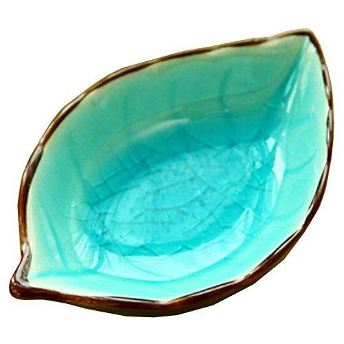 4 PCS Plats Creative Vaisselle polyvalente table Relish feuilles Lac Bleu