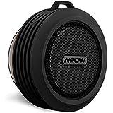 Mpow Bluetooth スピーカー 防水スピーカー 吸盤式 内蔵マイク付 防滴仕様 (ブラック) 改良版