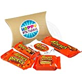 Reese's Happy Birthday Pouch - Big Cup, White Cup, 3 Cup, Nut Bar and Pieces - Peanut Butter Chocolate - By Moreton Gifts