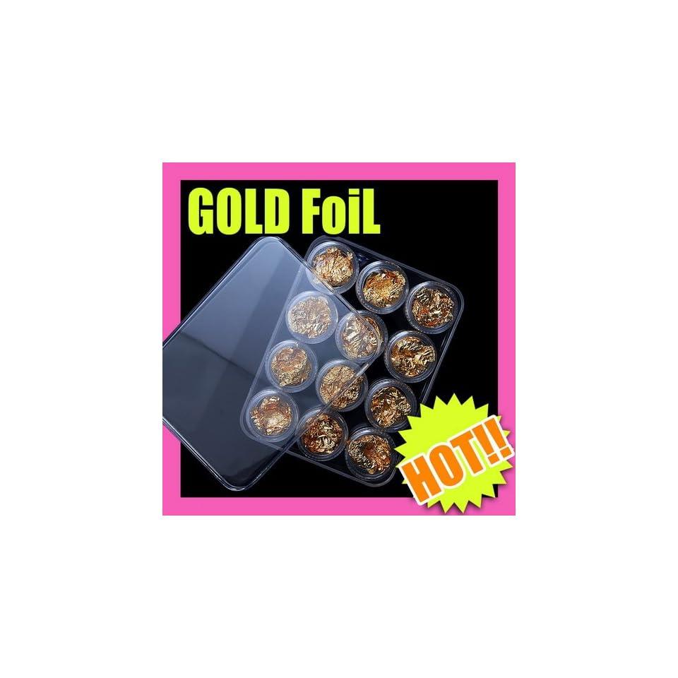 12 Gold Soft Flake Paillette Nail Art Decoration 057
