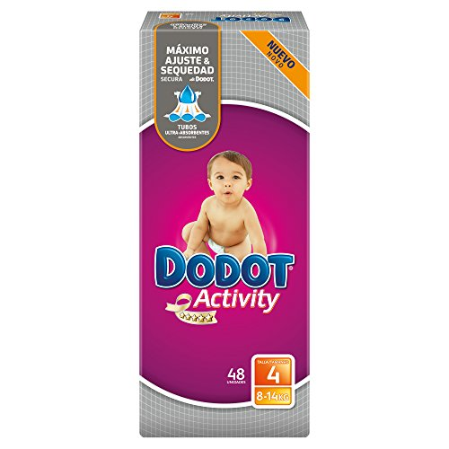 Activity Dodot - Pannolini per bambini, taglia 4, per bambini da 8-14 kg, 48 pannolini