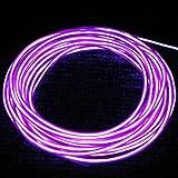 Timetop 3M Flexible Neon Light EL tube de câble métallique avec le contrôleur grande décoration pour la voiture, Fête, arbres de noël, Clubs variété de couleurs (violet)...