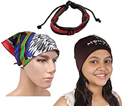 Sushito Brown Beanies Winter Protect Cap For Men With Stylish Headwrap & Wrist Band