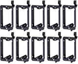 Arlington LV1-10 Low Voltage Mounting Bracket, 1-Gang, Black, 10-Pack