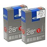 SCHWALBE(シュワルベ) 【正規品】700x18-28Cチューブ 仏式 40㎜バルブ 15SV 【2個セット】 ランキングお取り寄せ