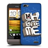 Head Case Designs Byte Me Nostalgic 90s Protective Snap-on Hard Back Case Cover for HTC One V