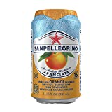 San Pellegrino Sparkling Fruit Beverages, Aranciata/Orange 11.15-ounce cans (Total of 24)