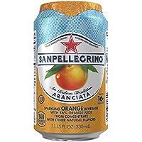 24-Pack San Pellegrino Sparkling Aranciata/Orange 11.15-Ounce Cans Fruit Beverages
