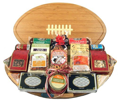 Football Themed Meat & Cheese Gift Tray/Cutting Board | Size Large