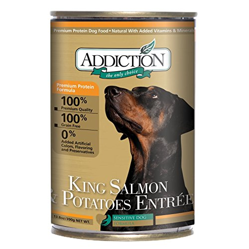 King Salmon & Potatoes Entrée- Dog Food (12/13.8 Ounce Cans) (Addiction Canned Dog Food compare prices)