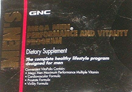 GNC Men's Mega Performance & Vitality Program 30 Vitapaks