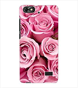 ColourCraft Beautiful Heart Pattern Design Back Case Cover for HUAWEI HONOR 4C