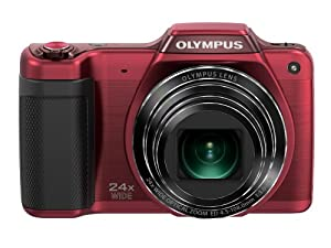 Olympus Stylus SZ-15 Digital Camera with 24x Optical Zoom and 3-Inch LCD (Red) (Old Model)