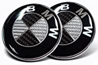 Bmw Black Silver Carbon Fiber Emblem Badge Logo For Hood Front Trunk Rear 82mm 323 Inch Self Adhesive At The Back Steering Wheel Sticker 45mm 177 Inch Wheel Center Hub Caps 4pcs Totally 7pcs
