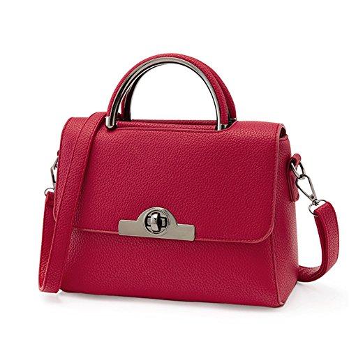 emotionlin-moda-donne-di-pelle-di-lucchetto-tote-borsa-signore-borsa-deep-red