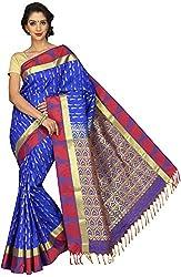 Evila Women's Raw Silk Saree (RSE-204, Blue)