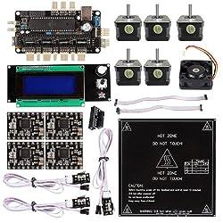 SainSmart Sanguinololu RepRap + A4988 + MK2B Heatbed + A4988 3D Printer Kit for RepRap Arduino