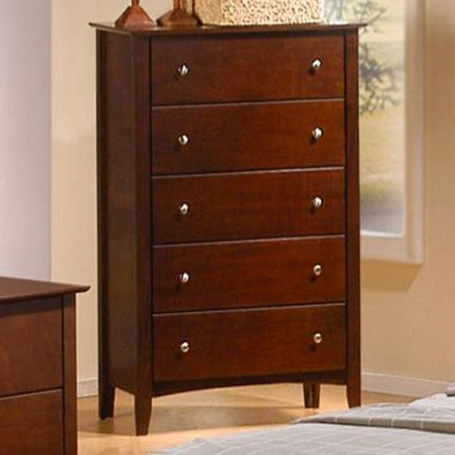 Coaster Home Furnishings 201155 Casual Contemporary Chest, Walnut