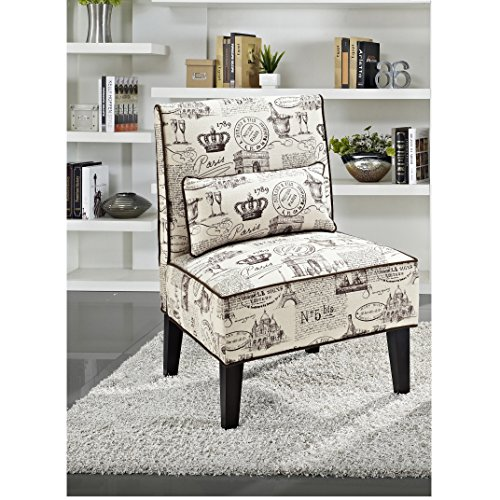 Metro Shop Celine Cream Slipper Chair Celine Accent Chair Cream With Brown Pa