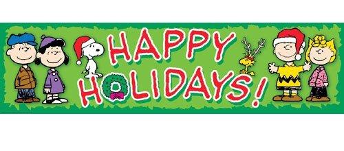 "Eureka Peanuts Happy Holidays Classroom 12"" x 45"" Banner"