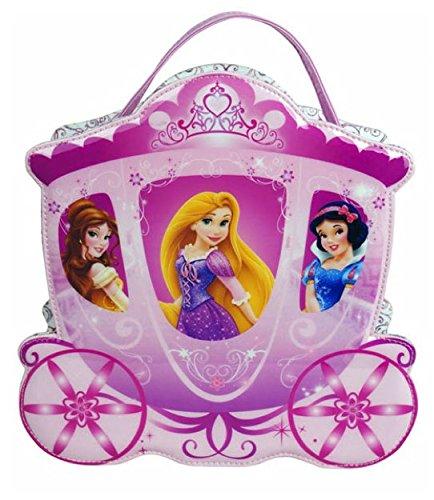 Markwins 9347600, Disney Princess, Princess Coming Through, Borsetta di trucchi a forma di carrozza