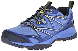 Merrell Women\'s Capra Bolt Waterproof Hiking Shoe, Purple, 8 M US