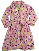 Sweet n Sassy - Girls Stars Robe, Pink, Multi 27492-14/16