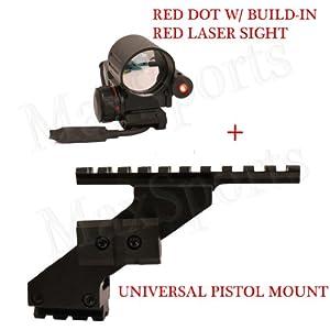 Ruger SR9 P95 Pistol Mount + 4 Reticle Red/Green Dot Sight w/ Red Laser