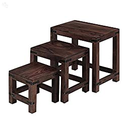 Ringabell Geo Nesting Tables (Mahogany Finish, Brown)