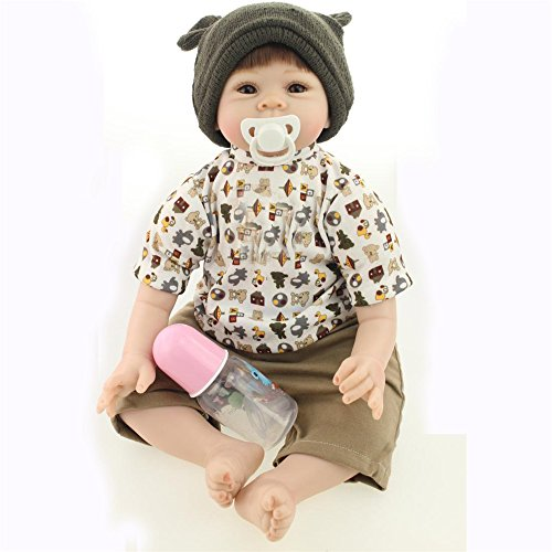 [Fan Moon Baby Doll Soft Silicone Brown Cartoon Clothing Boy 22-Inch] (Sit And Be Fit Costume)