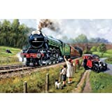 King Watching Trains Jigsaw Puzzle (1000 Pieces)