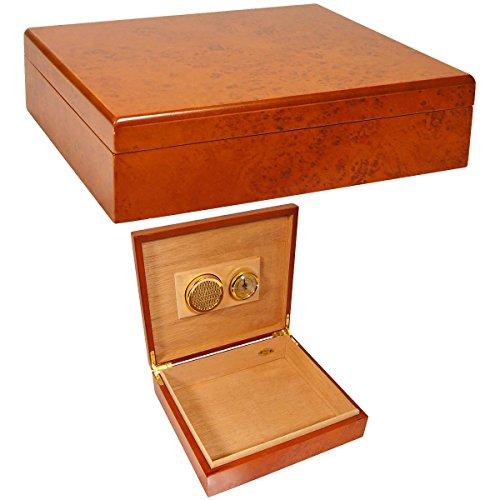 new-cuban-crafters-cigar-humidors-high-gloss-burl-wood-spanish-cedar-interior-25-cigars-capacity