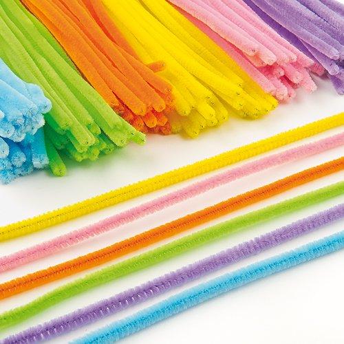 pack-economique-de-fils-chenille-colores-lot-de-120