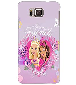 PrintDhaba Forever Friends D-1077 Back Case Cover for SAMSUNG GALAXY ALPHA (Multi-Coloured)