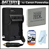Battery And Charger Kit For Canon Powershot ELPH 310 HS ELPH 100 ELPH 300 SD960 IS SD940 IS SD780 IS SD1400 IS Digital Camera Includes Extended Replacement (900 maH) NB-4L Battery + AC/DC Travel Charger + LCD Screen Protectors + MicroFiber Cleaning Cloth ~ ButterflyPhoto
