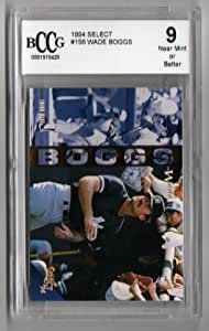 1994 Select #156 Wade Boggs Beckett Graded 9 Near Mint or Better