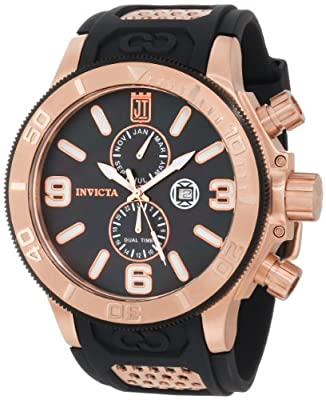 Invicta Men's 13689 Analog Swiss Quartz Black Mother-of-Pearl Dial Watch