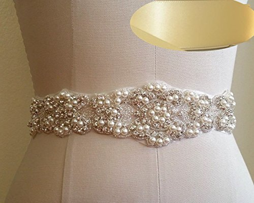 Crystal-sashes-for-wedding-Wedding-Bridal-Belt-Braided-Rhinestone-Sash-Ivory