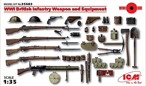 Icm Models World War I British Infantry Weapon/Equipment Kit