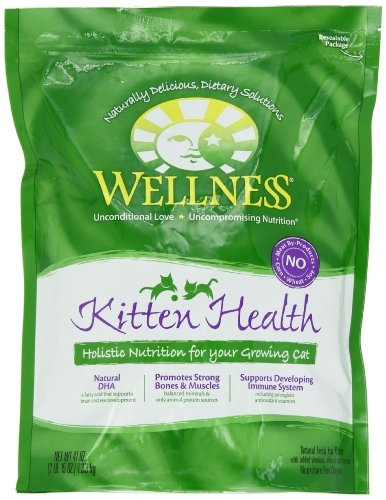 Detail image Wellness Dry Cat Food for Kittens, Kitten Health Recipe, 47 oz. Bag