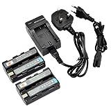 DSTE 2pcs NP-FS10 Rechargeable Li-ion Battery + Charger DC05U for Sony NP-F10, NP-FS10, NP-FS11, NP-FS12 and Sony Cyber-shot DSC-F505, DSC-F55, DSC-F55, DSC-P1, DSC-P20, DSC-P30, DSC-P50, CCD-CR1, CCD-CR5, DCR-PC1, DCR-PC2, DCR-PC3, DCR-PC4, DCR-PC5, DCR